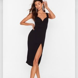 NWT NASTY GAL COLLECTION PLUNGE MIDI DRESS